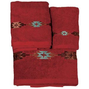 Navajo Towel 3pc Set, 3-pc Red