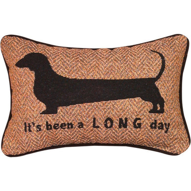 It's Been A Long Dog Word Pillow - 12.5