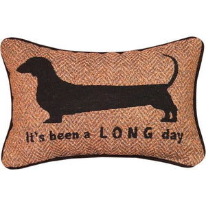 "It's Been A Long Dog Word Pillow - 12.5"" X 8"""