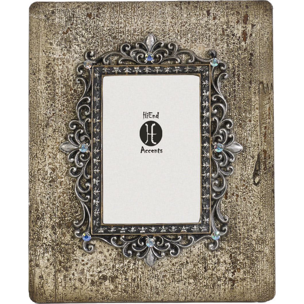 Silver and Rhinestone Distessed Frame, 4