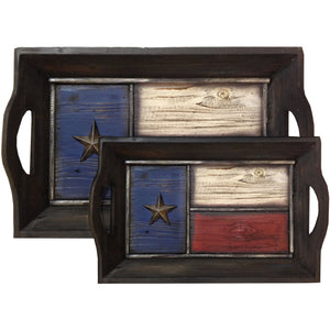 Texas Flag Tray (1 large, 1 small),