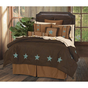 Laredo Comforter Set, Super King Turquoise