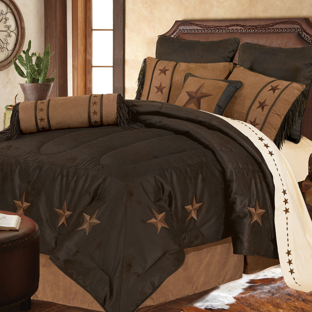 Laredo Comforter Set, Super Queen Chocolate