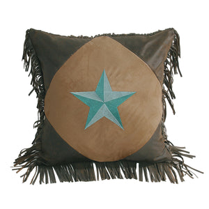 "Diamond Shape Star Pillow , 18""X18"" Turquoise"