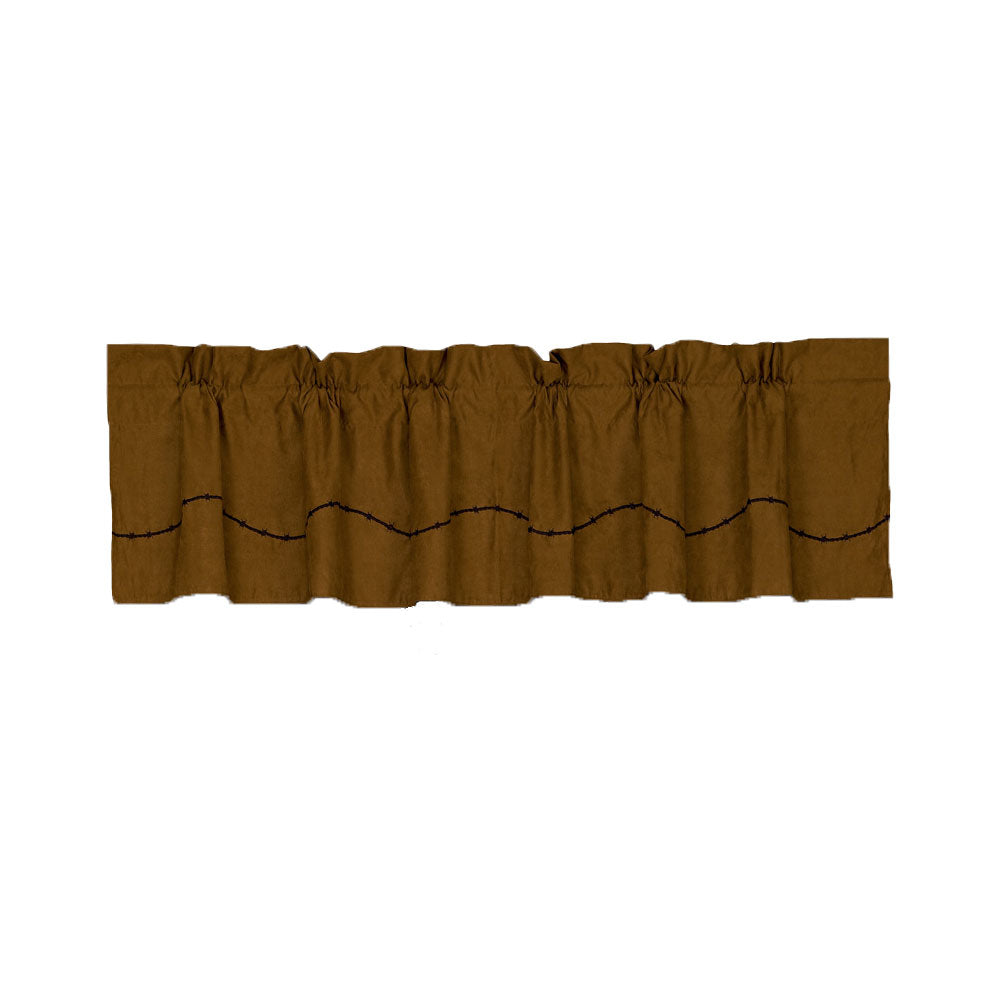 Suede Valance with Fringe, 84