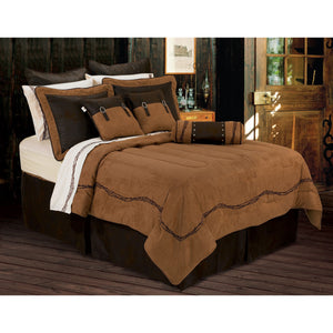 7-PC Embroidered Barbwire Comforter Set, Super Queen