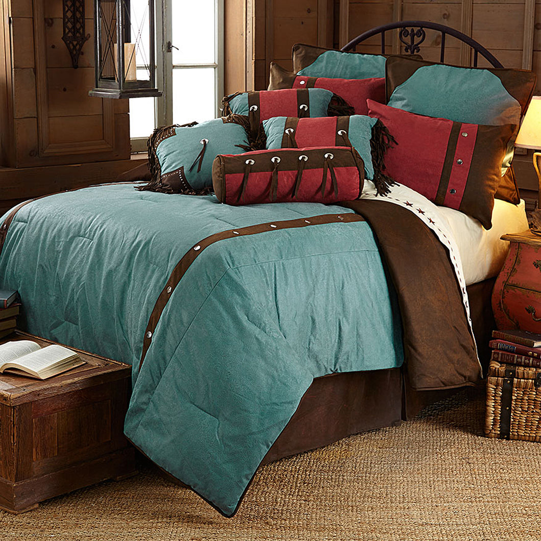 Cheyenne Comforter Set, Super King Turquoise