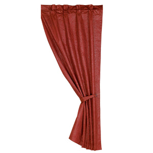 "Cheyenne Curtain, 48""X84"" Red"