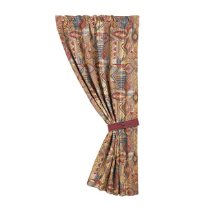 "Southwest patchwork curtain with tieback, 48""x84"""