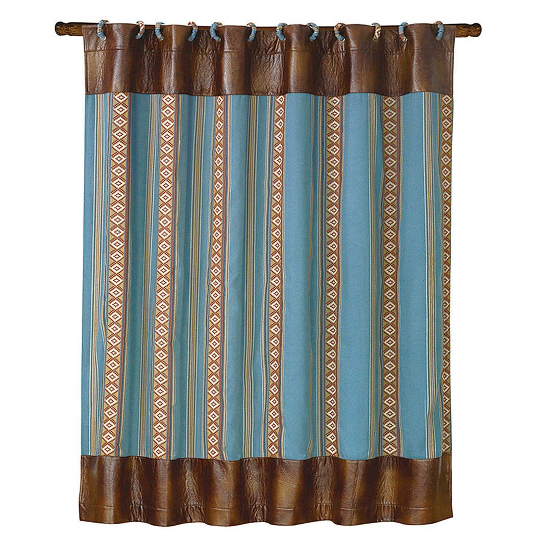 Turquoise stripe shower curtain, 72