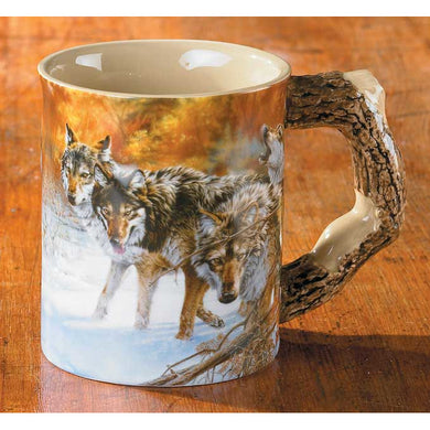 Wolves Body Language Sculpted Coffee Mug