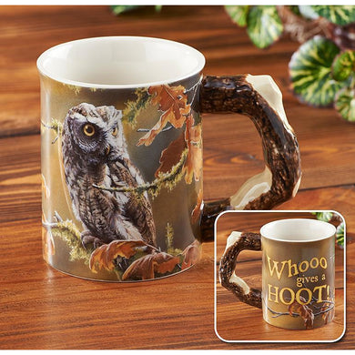 Who Gives a Hoot – Owl Sculpted Coffee Mug