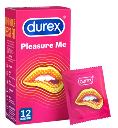 Durex Pleasure Me ribbed and dotted condoms