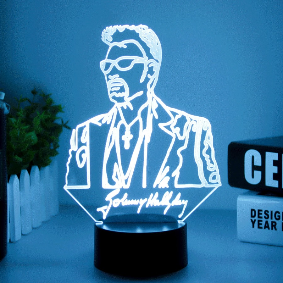 Lampe 3D LED Collector Johnny
