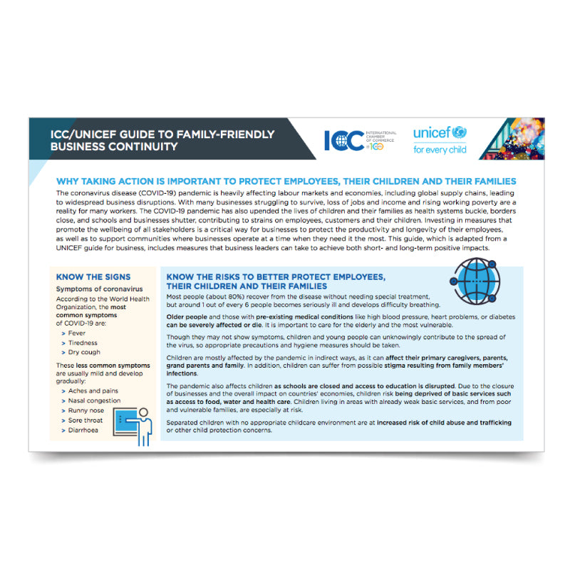 ICC UNICEF Guide to Family-Friendly Business Continuity