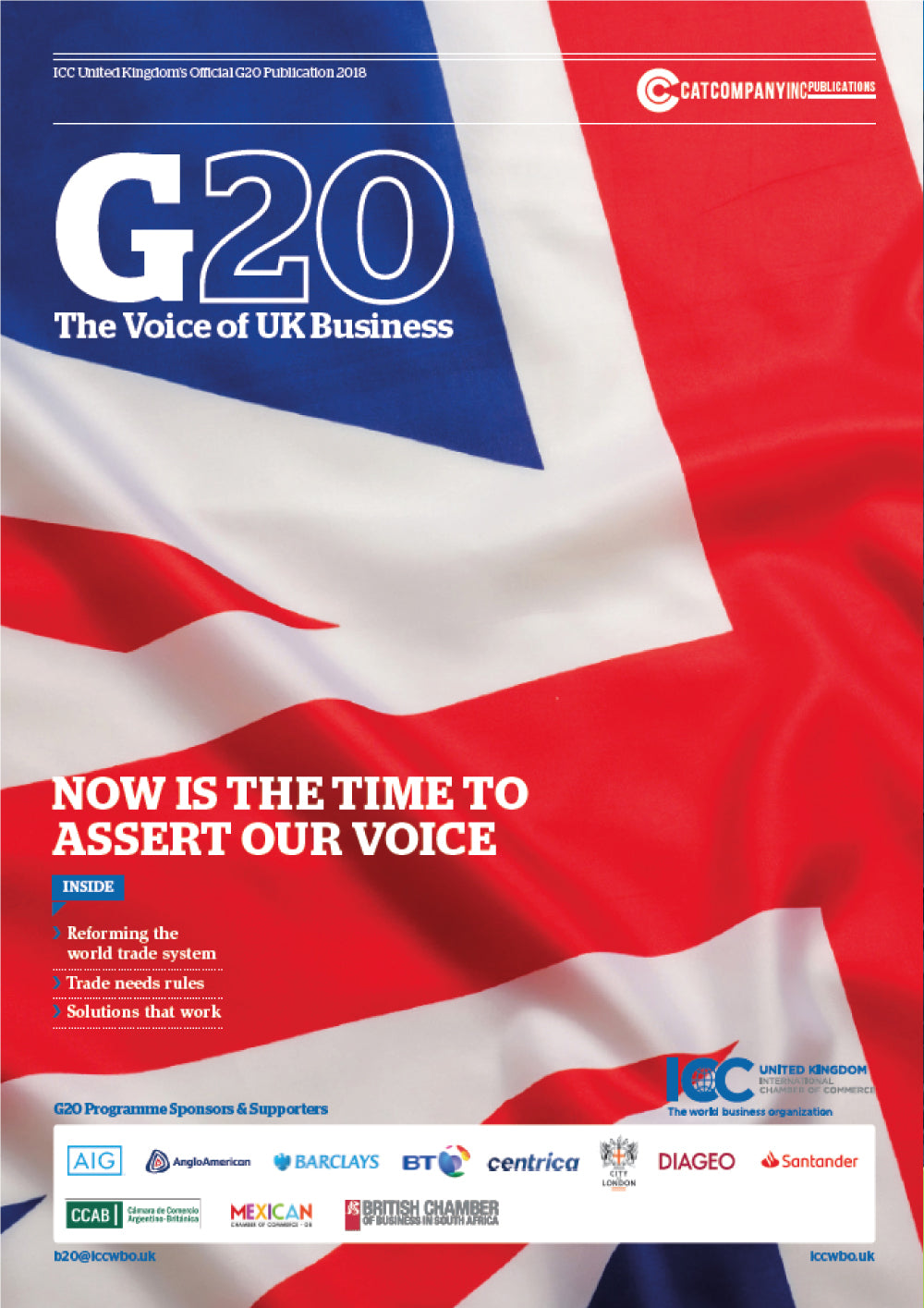 ICC G20: The Voice of UK Business 2018