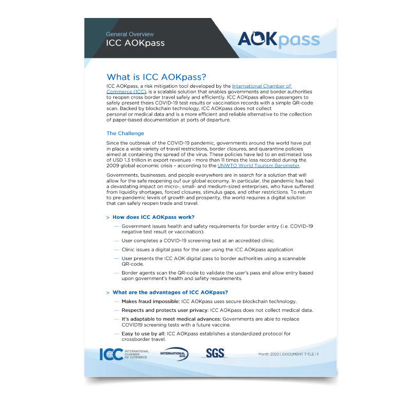 ICC AOKpass - General Overview