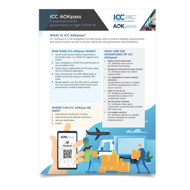 ICC AOKpass - A practical tool for governments to fight COVID-19