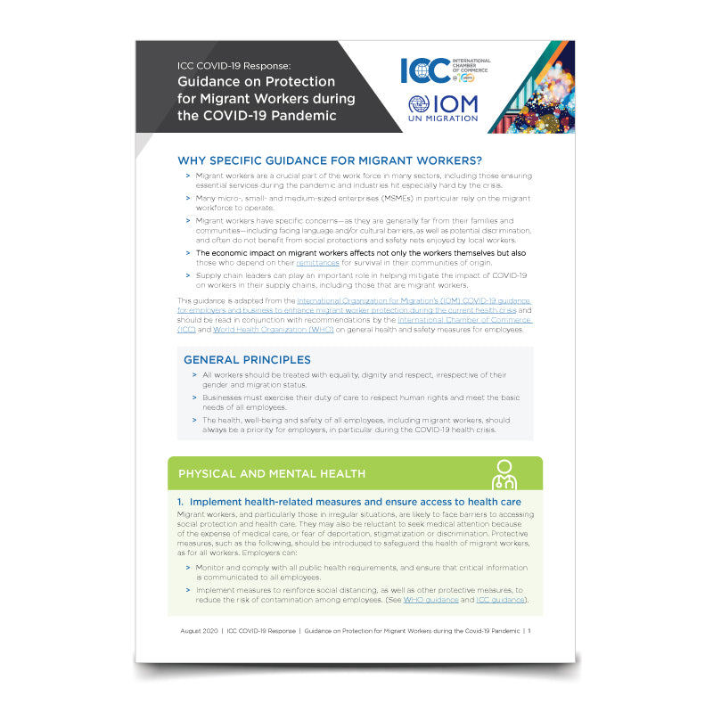 ICC - IOM Guidance on Protection of Migrant Workers