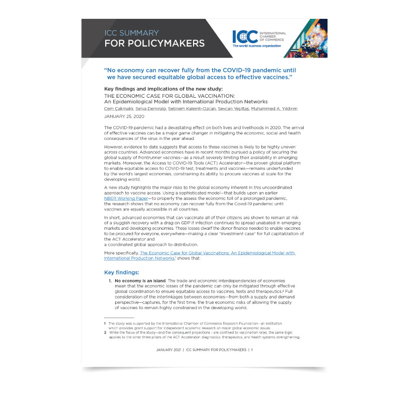 ICC Summary for Policy Makers