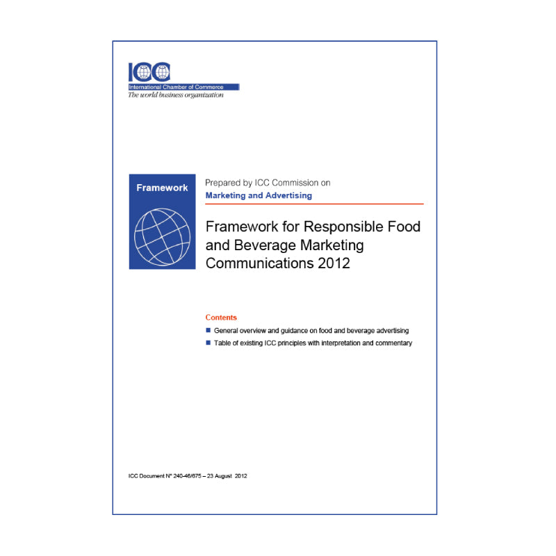 ICC Framework for Responsible Environmental Marketing Communications