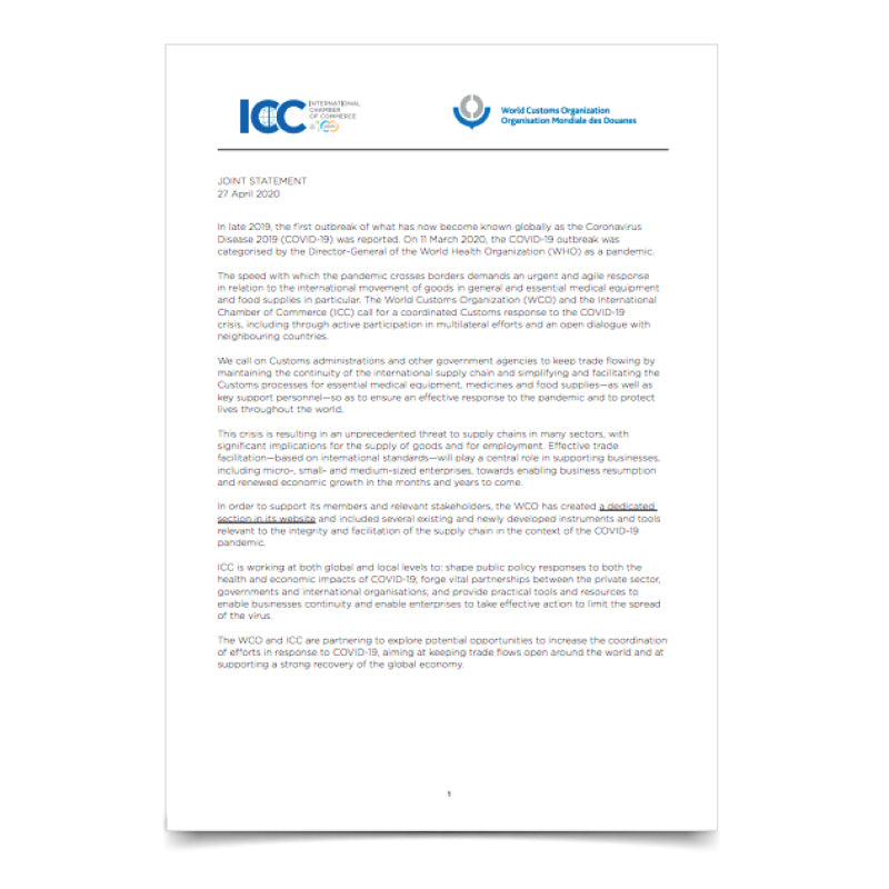 ICC-WCO Joint Statement