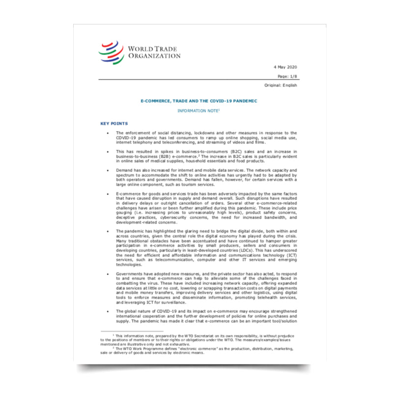 WTO Ecommerce Report