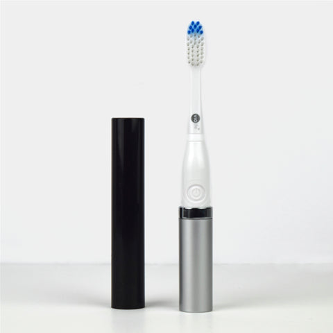 Slim Sonic Classic Electric Toothbrush - Black/Silver