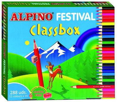 Pack escolar lápices colores ALPINO (288 lápices)