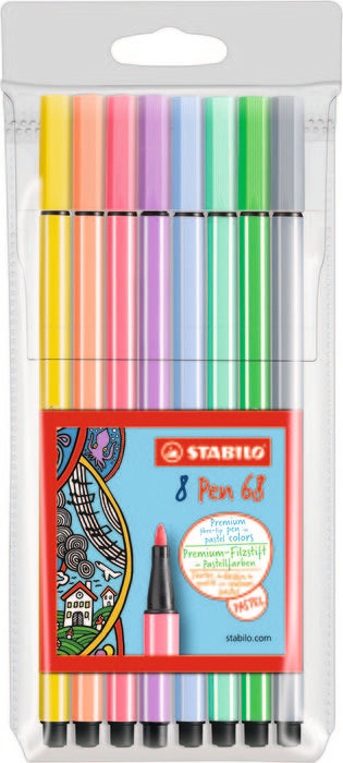 Pack 8 Rotuladores Color Pastel