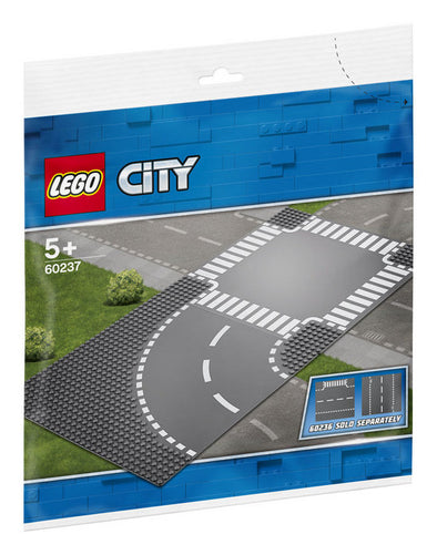 Lego City Supplementary 60237 Curvas Y Cruce