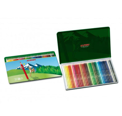 Estuche metal escolar lápices ALPINO (36 lápices)