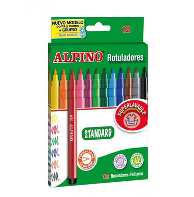 Rotuladores de colores Alpino (12 rotuladores)