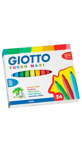 Rotuladores MAXI de colores Giotto (24 rotuladores)