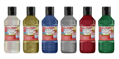 Tempera Glitter gel Alpino 250 ML azul