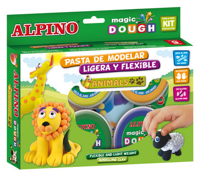Pasta de modelar Alpino Magic Dough Animales 6 x 40 g
