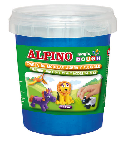 Pasta de modelar Alpino Magic Dough Bote 160 gr azul