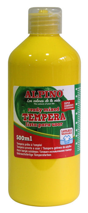 tempera escolar Botella 500 ML Amarillo