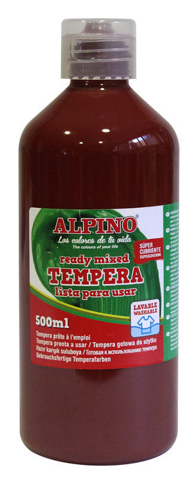 tempera escolar Botella 500 ML marron