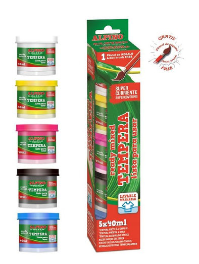 Tempera Alpino 5 x 40 ML