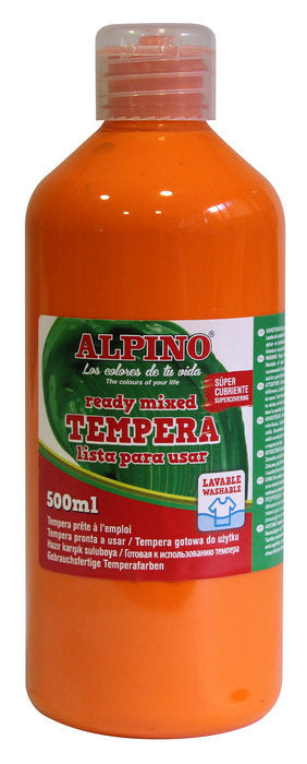 tempera escolar Botella 500 ML naranja