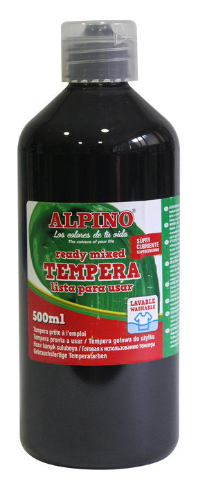 tempera escolar Botella 500 ML negro