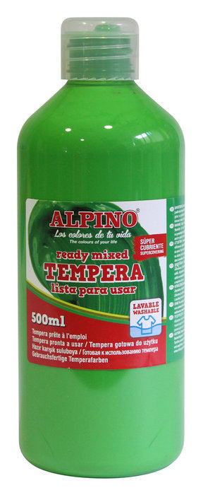 tempera escolar Botella 500 ML verde claro