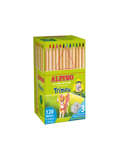 Lapices Alpino Trimax 120 unidades (12 colores x 10 unidades) Economy pack