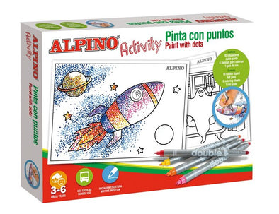 Kit Actividades Alpino Activity Pintar Con Puntos