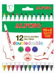 Rotulador Alpino Doble 12 Colores.