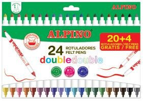 Rotulador Alpino Doble 24 Colores.