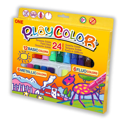Tempera Solida Playcolor One 24 Colores