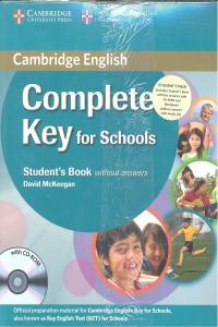 Complete Key For Schools St+Wb+Cd 12 Without Answ.Camin0Sd - 9780521124720