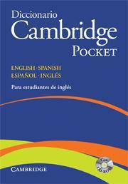 Libro Dicc. Ingles/Español Pocket. Cambridge - 9788483234785